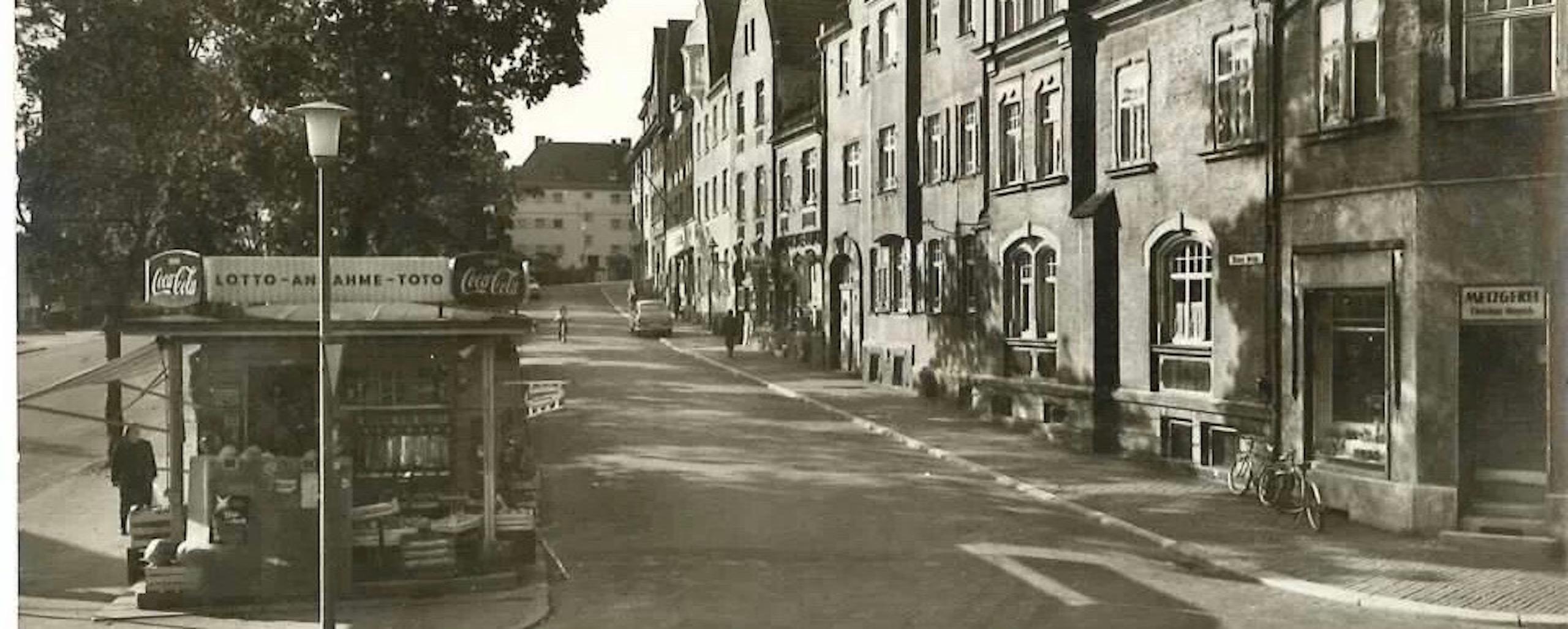 historisches Bild 1950 | Metzgerei Herpich in Hof