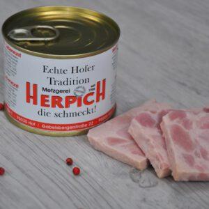 Bierschinken in der Dose | Onlineshop Metzgerei Herpich in Hof