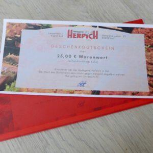 Geschenkkarte Metzgerei Herpich | Metzgerei Herpich in Hof