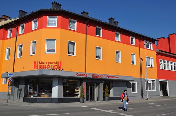 Fassade Hauptgeschäft | Metzgerei Herpich in Hof