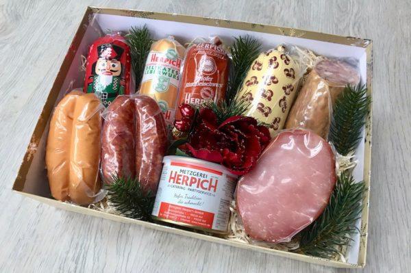 Weihnachsgeschenkkorb Metzgerei Herpich Hof